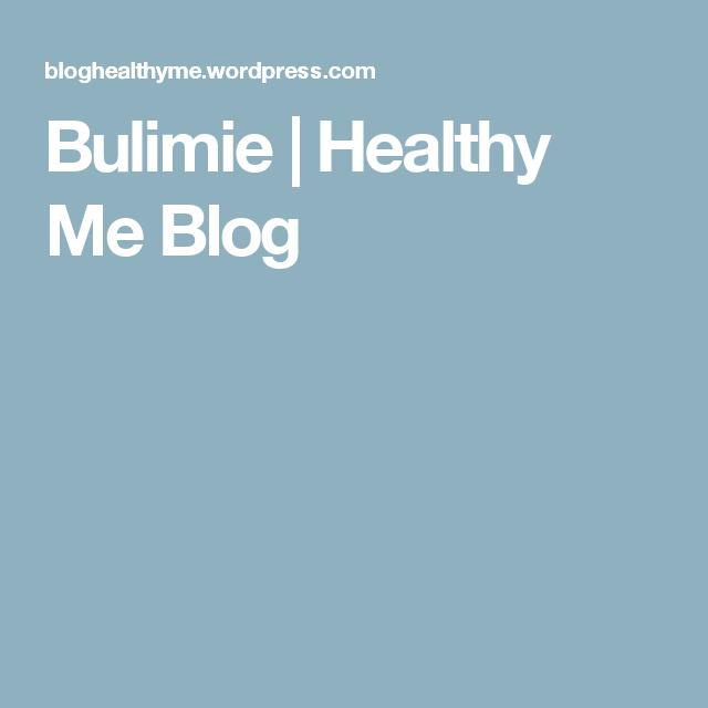 Bulimie | Healthy Me Blog