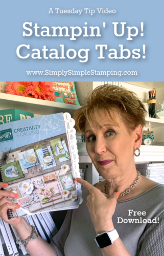 Stampin' Up Catalog Tabs & Free Download! - Simply Simple Stamping