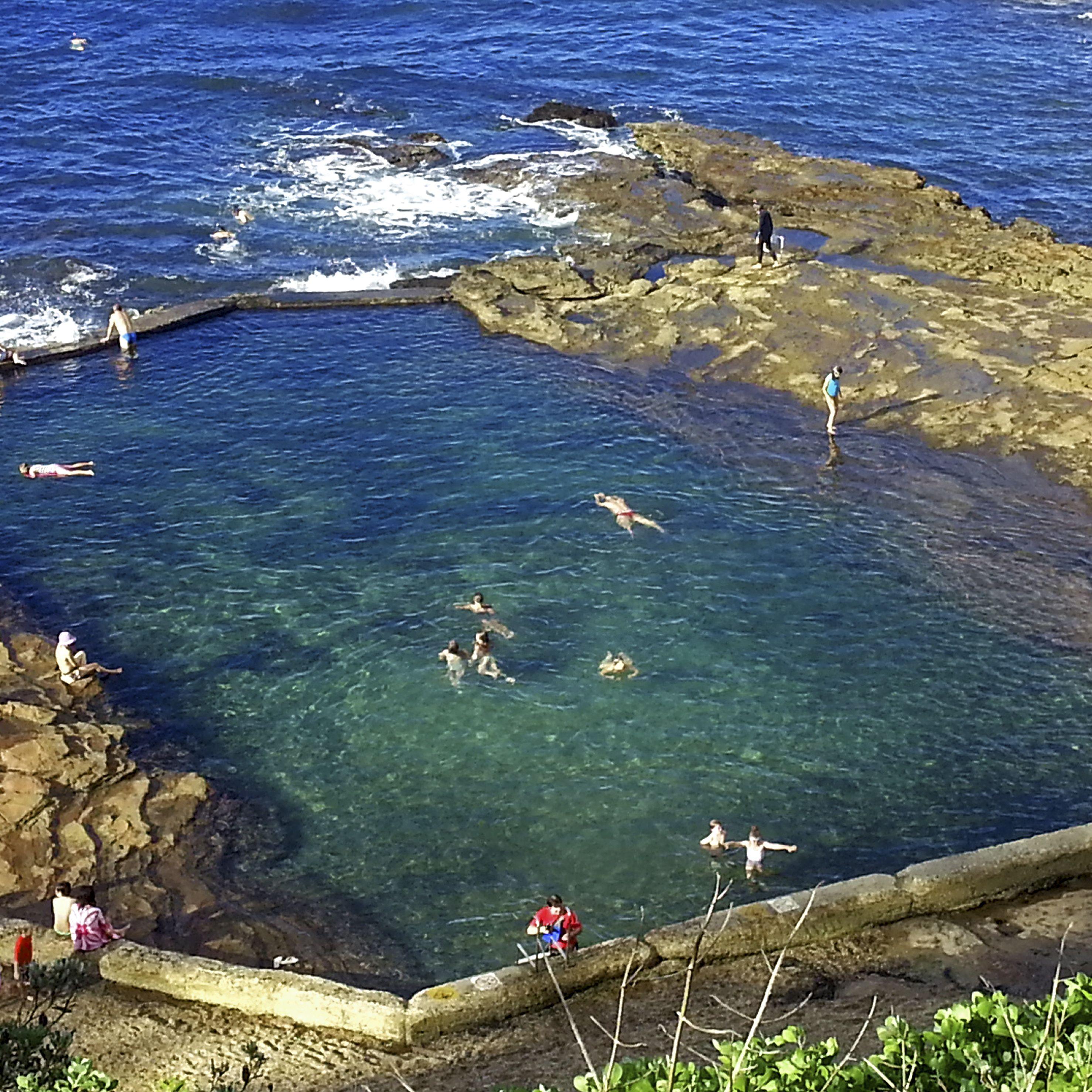 Photo Comp Visions Of Illawarra Treasures Wollongong Rock Pools Night Swimming