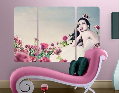 be a princess, wall decal with roses