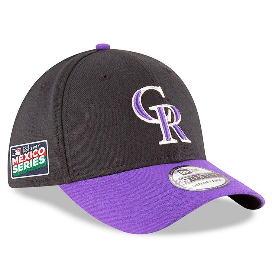 huge discount ca33b 9bf35 Men s Colorado Rockies New Era Black Purple 2019 Mexico Series 39THIRTY  Flex Hat, Your Price   31.99