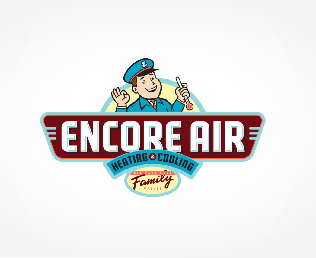 Encore Air Heating Cooling Logo Design For Encore Air Heating