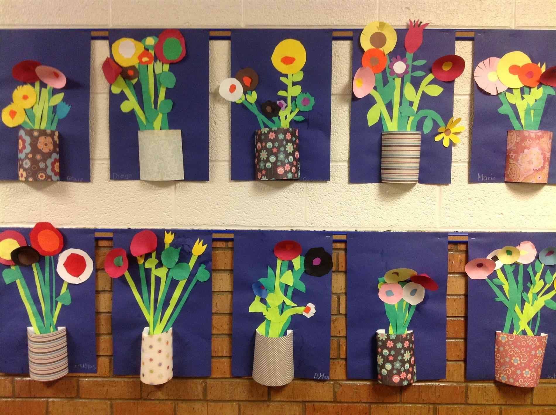 Photos And Descriptions Of Student Art Projects Being