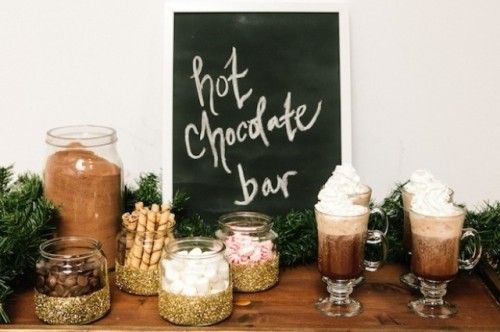 21 Hot Chocolate Bar Ideas For Your Winter Wedding,  #Bar #Chocolate #Hot #hotcocoaideas #ide... #hotchocolatebar