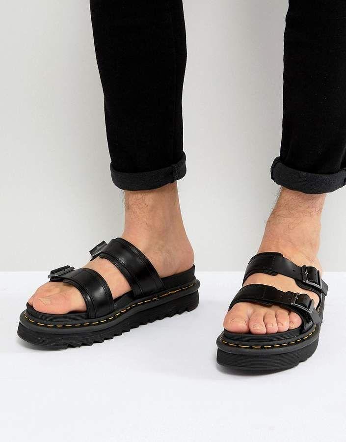 f125a07f8f3 Dr Martens Myles Slide Sandals In Black in 2019