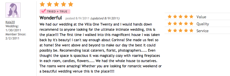 Review from 8/9/11