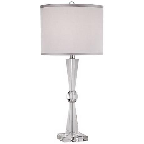 Linley Collection Element Crystal Table Lamp Y4760 Lamps Plus Crystal Table Lamps Lamp Table Lamp