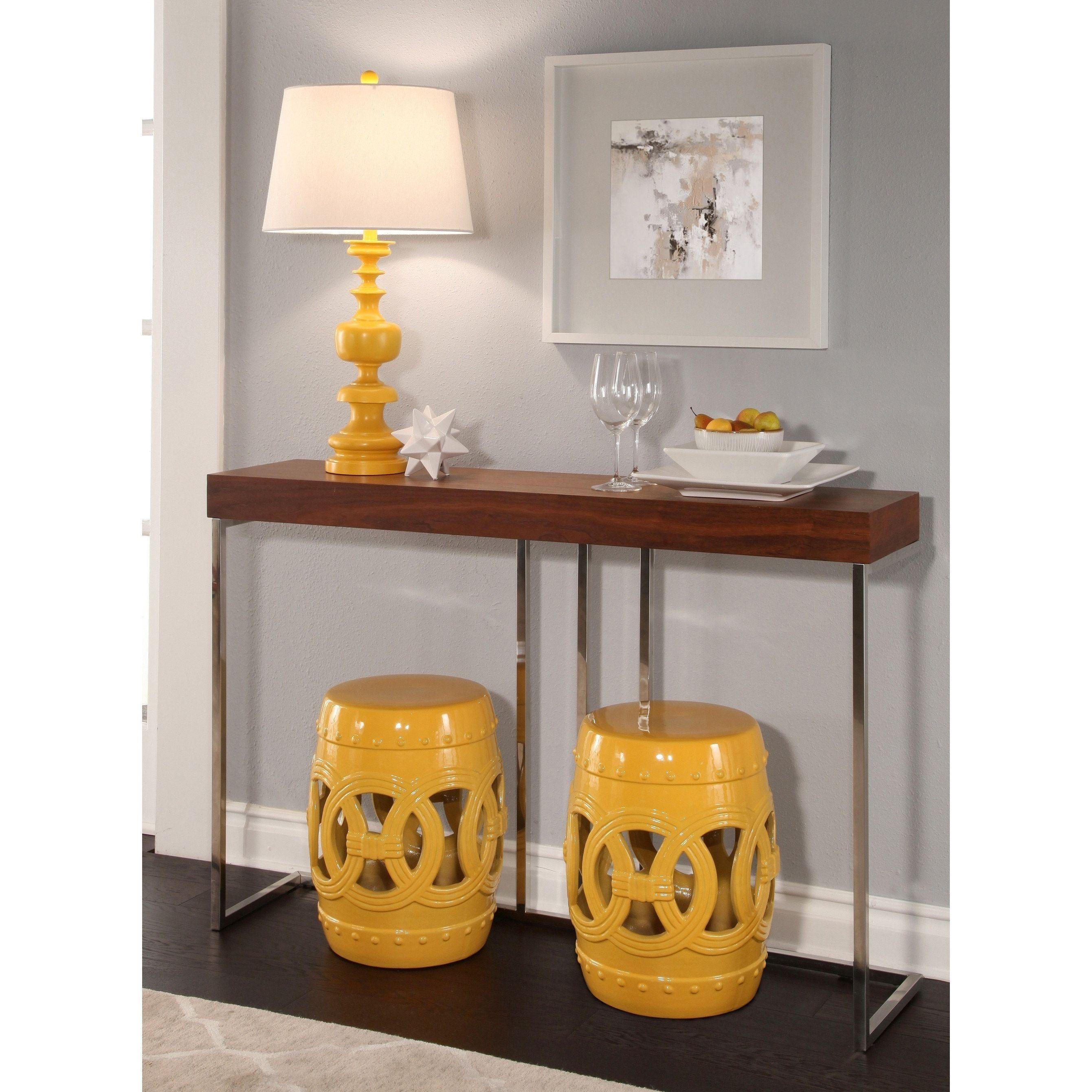 Admirable Abbyson Moroccan Yellow Garden Stool Set Of 2 Interiors Machost Co Dining Chair Design Ideas Machostcouk