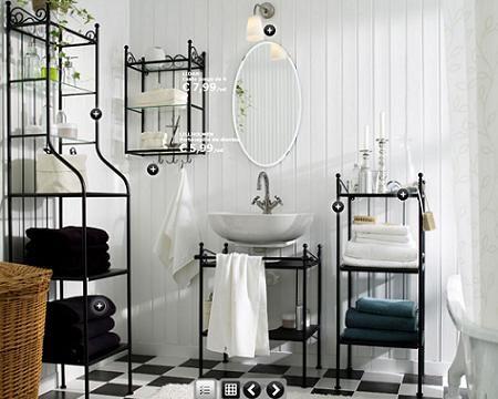 Muebles de hierro forjado para un baño rústico, serie ronnskar de ...