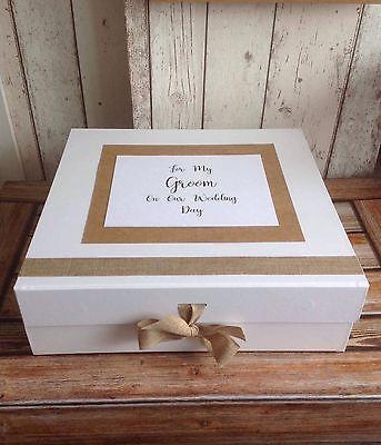 Groom Wedding Keepsake Box Gift From Bride To Groom On Morning Of