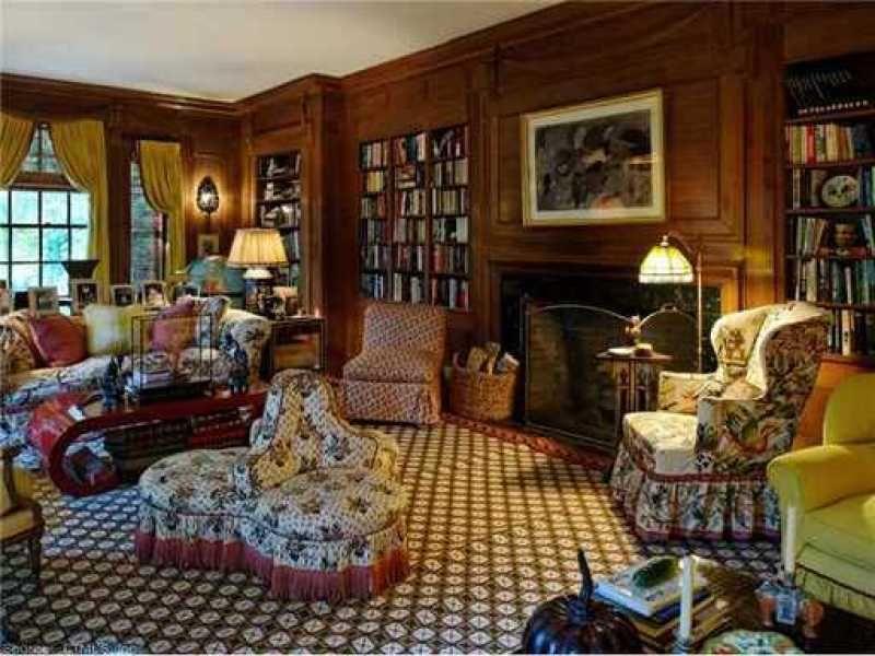 A Country Escape By Mario Buatta Cozy Home Library Mario Buatta