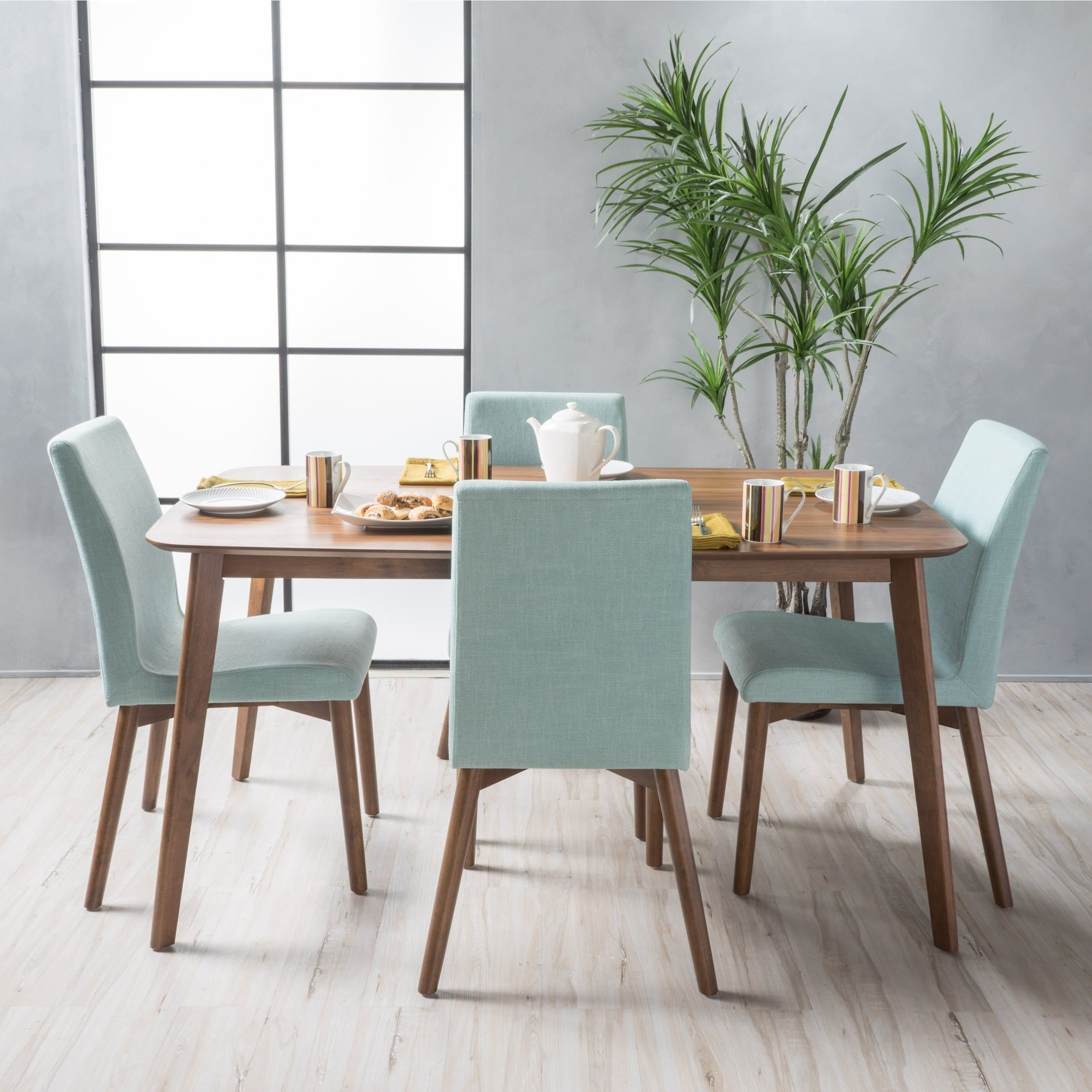Orrin Mid-Century 5-piece Rectangle Dining Set by Christopher Knight ...
