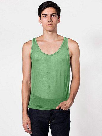 Lime Green: American Apparel - See Thru Tank