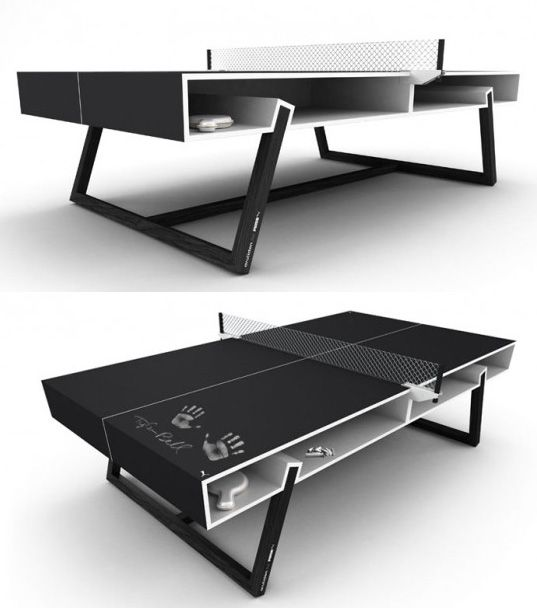 Puma Ping Pong Table Painted In Chalk Board Paint Would Definitely Improve  My Game. #innovative #design #pingpong