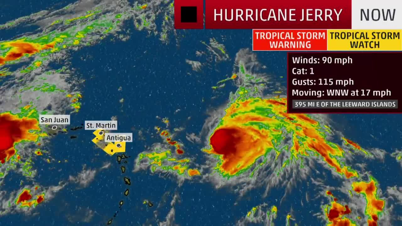 Tropical Storm Watches Issued Ahead Of Hurricane Jerry Videos From The Weather Channel Weather Com Tropical Storm Hurricane Tropical