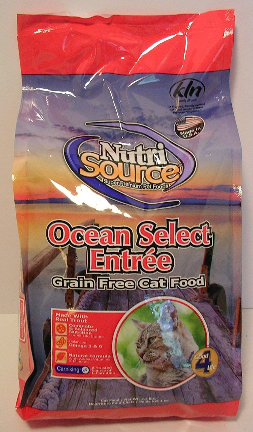 Nutri Source Grain Free Ocean Select Cat Food 2.2lb U.S.A