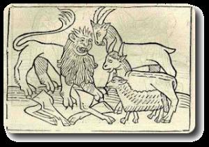 Der Löwenanteil Fabel Von Aesop Fabeln Gedichte Und