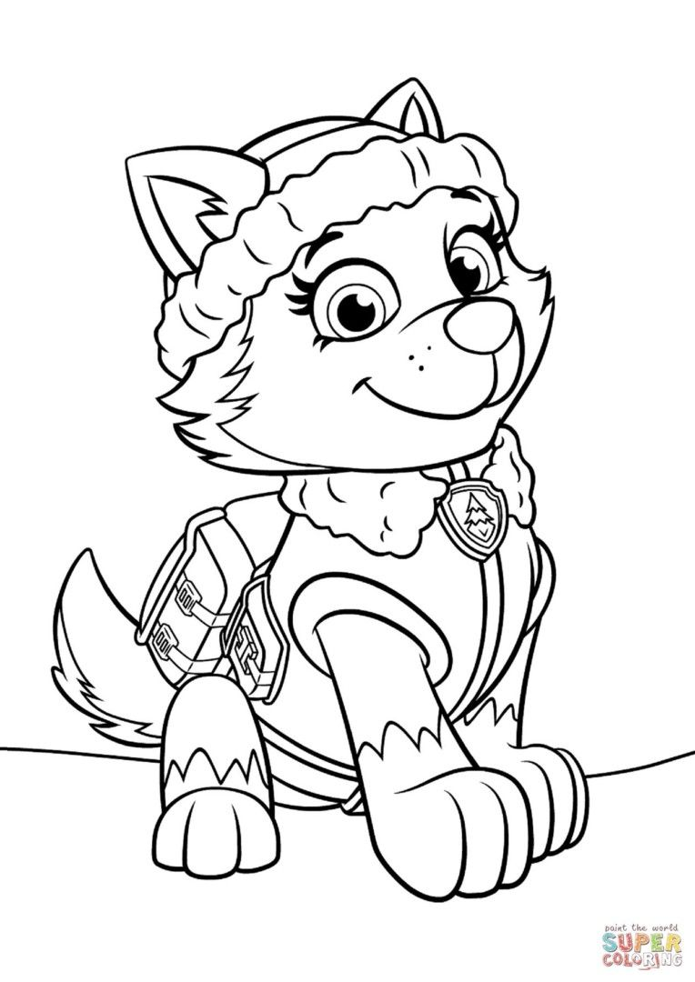 Colorings Co Paw Patrol Coloring Pages Everest Pages