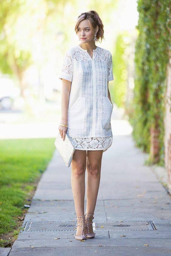 Fotos de vestidos blancos casuales