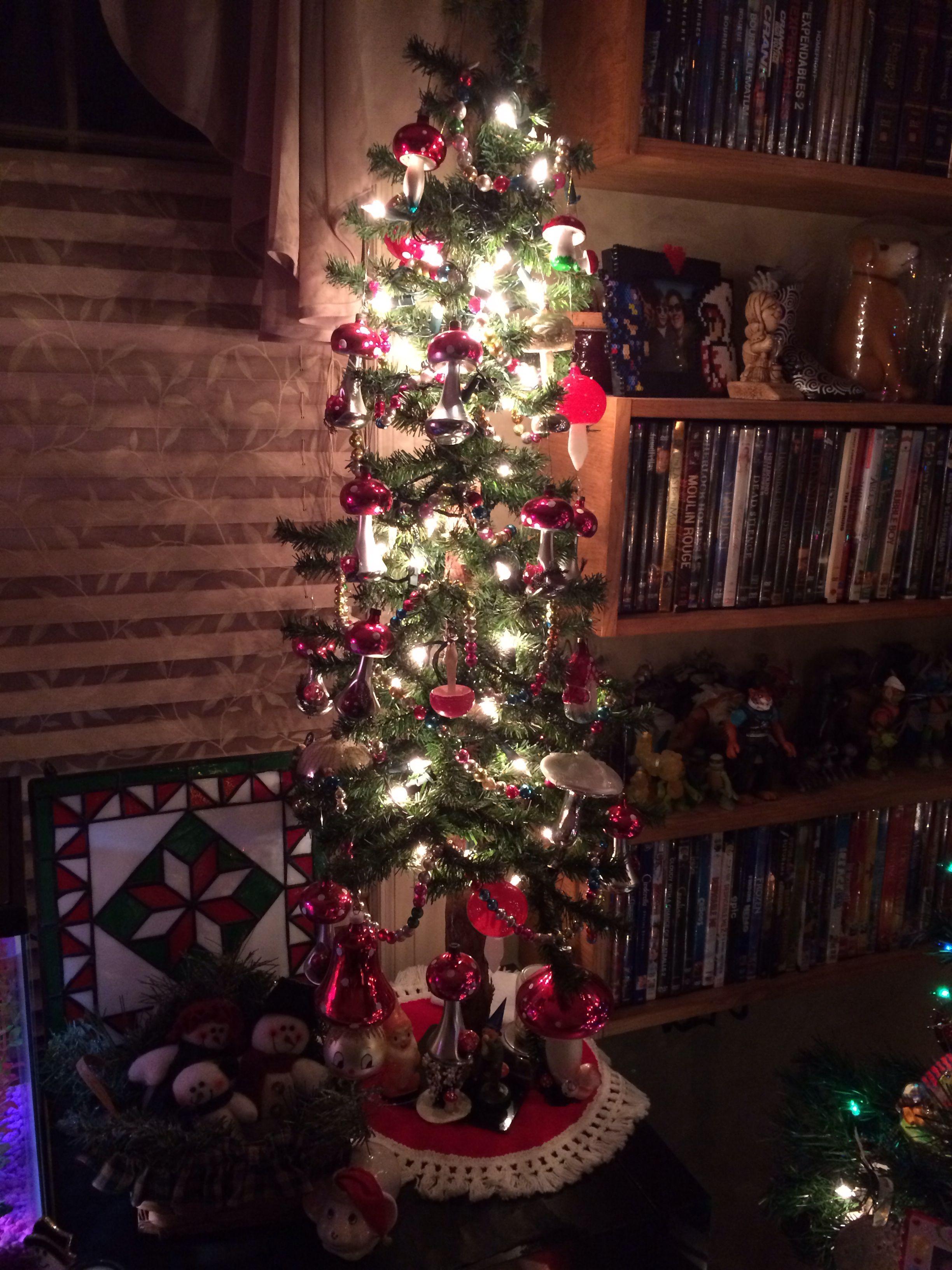 Our Vintage Toadstool Christmas Tree (One of My Pride & Joys)