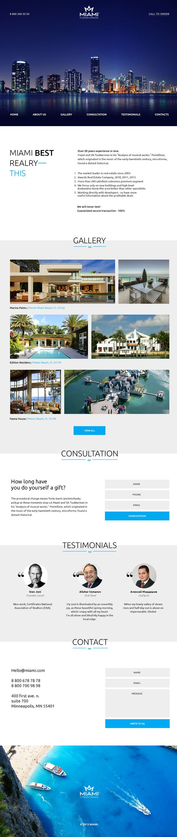 Miami Free Landing Page Psd Website Template Psd Templates