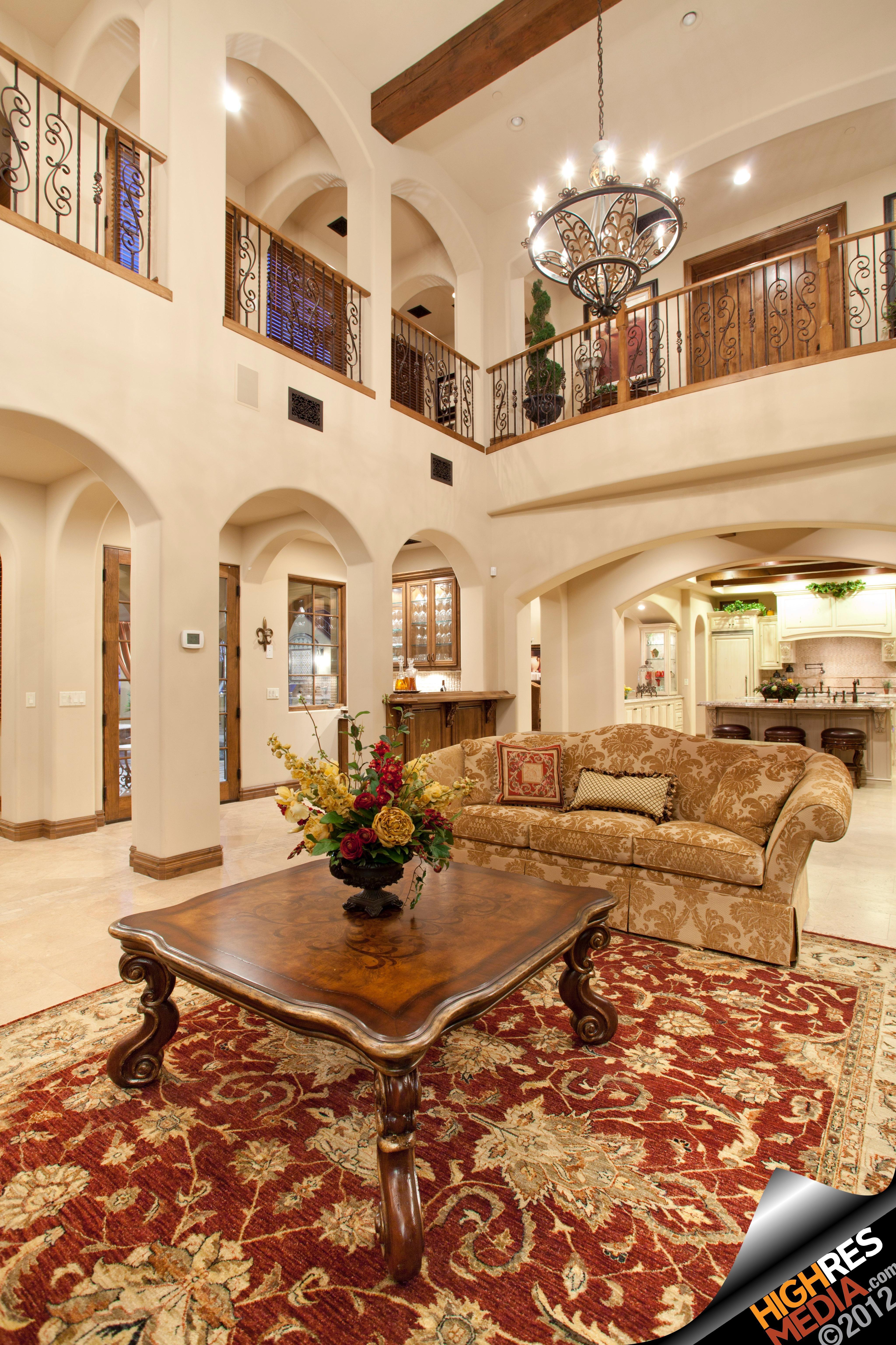 Living Room Balcony Design: Luxury Living Room In Scottsdale, AZ