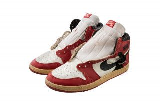4e0ba37c0cd Michael Jordan s Game-Worn Air Jordan 1s to Sell for  20K+