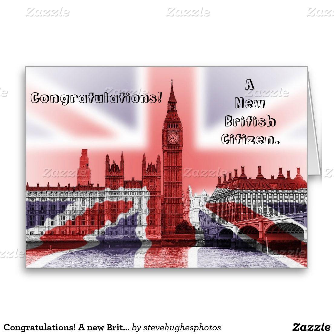 Congratulations a new british citizen card study abroad london a new british citizen greeting card m4hsunfo