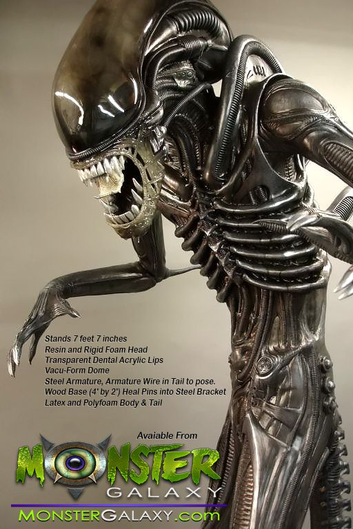 Life-size Alien Figure Statue Lifesize Alien Figure  Lifesized Alien Replica, Horror, Sci-Fi Memorabilia, Movie Alien Prop Figures Monster Alien Movies and Hollywood Props & Movie Replicas