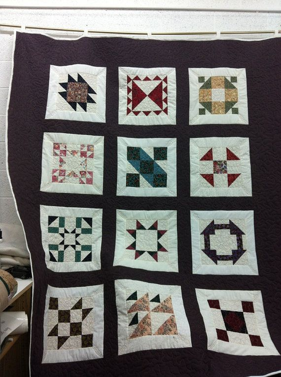 Hand pieced multicolored quilt by donnabyington on Etsy, $375.00