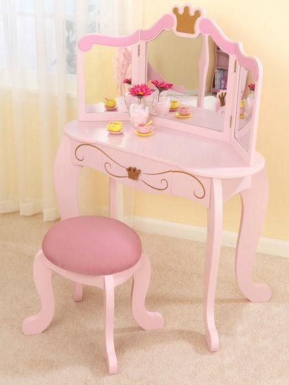 Princess Vanity Stool By Kidkraft At Gilt Bedroom Vanity Set Girls Bedroom Toddler Girl Room