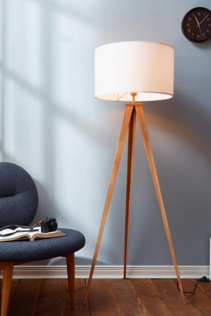 The Best Floor Lamps According To Interior Designers Tripod Floor Lamps Floor Lamp White Tripod Floor Lamp