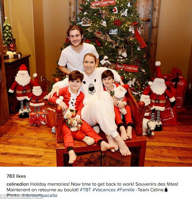 Celine Dion Shares Snap Of First Christmas Without Husband Rene Celine Dion Kids Celine Dion Celine