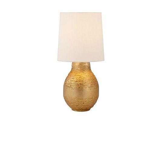 Aerin Mini Bleeker Table Lamp in Gild with Linen ShadeAerin Mini Bleeker Table Lamp in Gild with Linen Shade