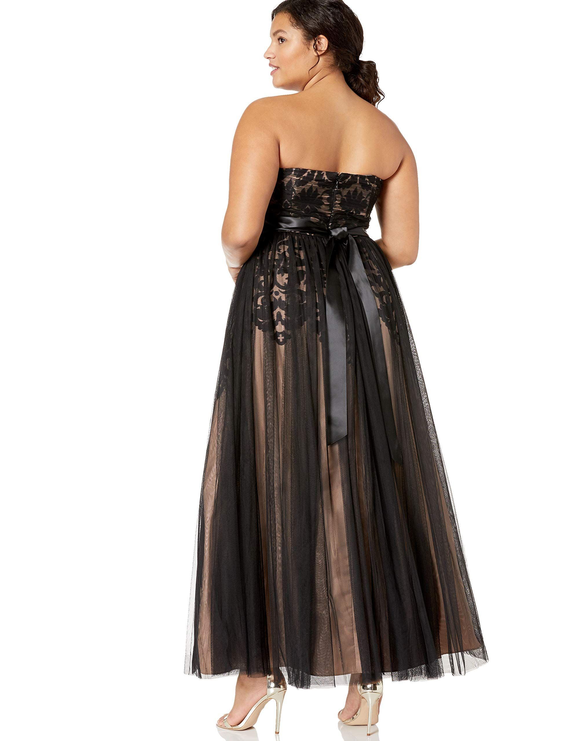 225db3a0479 City Chic Womens Apparel Womens Plus Size Formal Maxi Dress with Sweetheart  Neckline in Tulle Black 22     You can find out more details at the link of  the ...