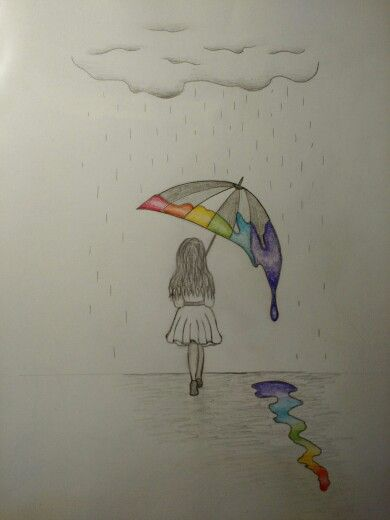 Rainy Day Means Hot Tea And Drawing Dibujos Dibujos Bonitos Dibujos Sencillos
