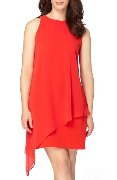 Main Image - Tahari Asymmetrical A-Line Dress (Regular & Petite)