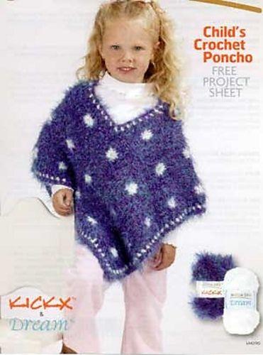 Ravelry Childs Crochet Poncho Lm0190 Pattern By Glenda Winkleman