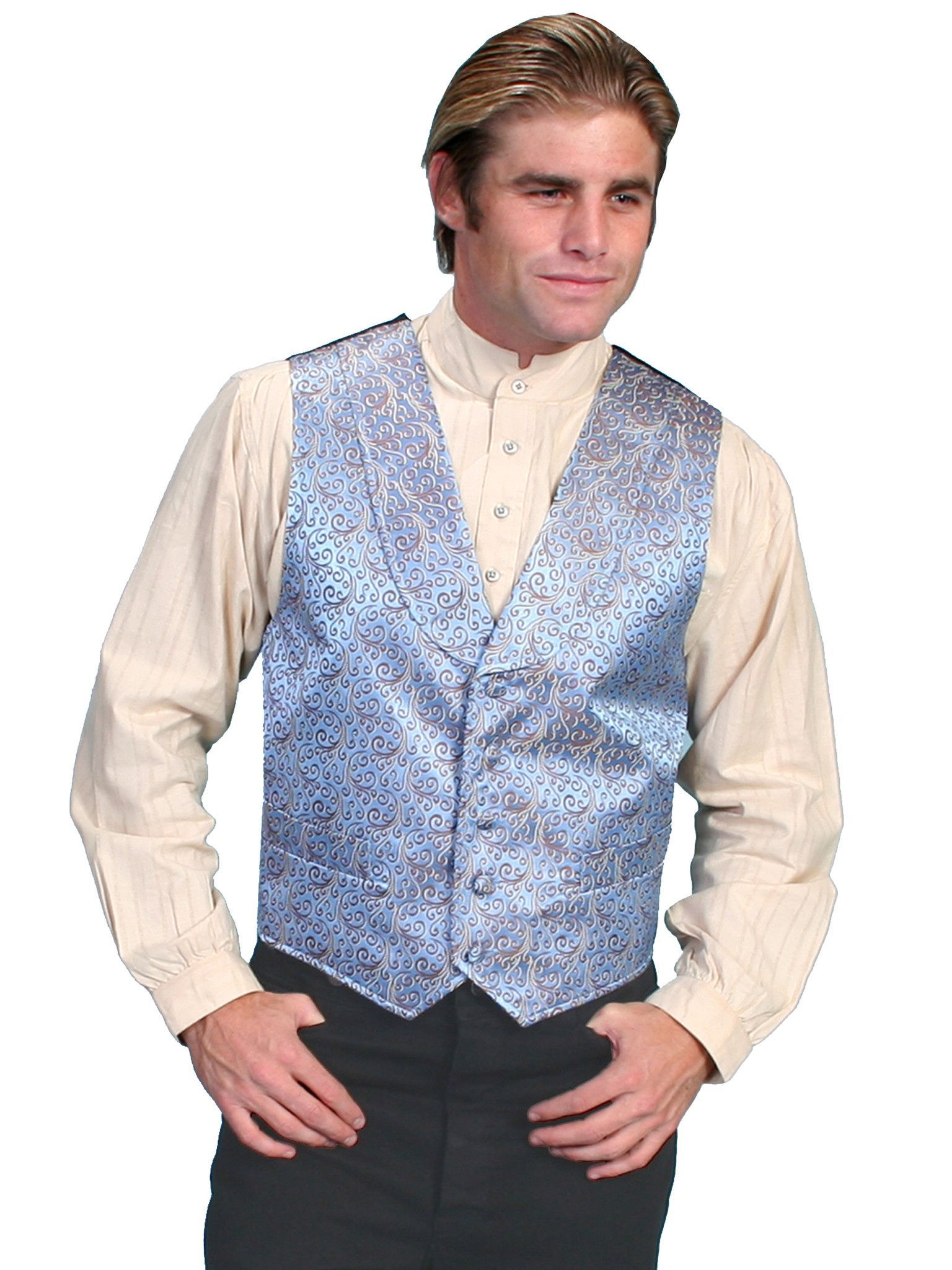 Scully Men/'s Black /& Grey Studded Star Embroidered Snap Up Shirt P-863 P-863X