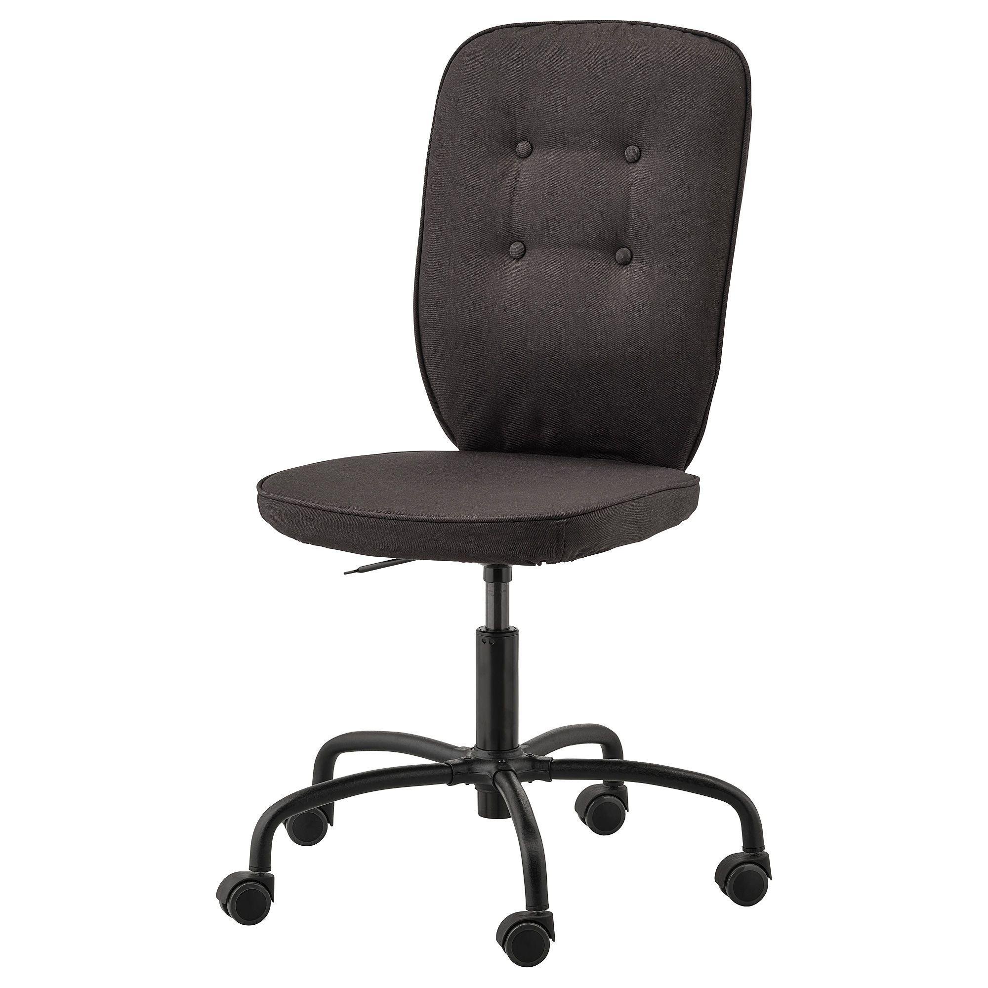 Ikea lillhojden idemo black black swivel chair swivel