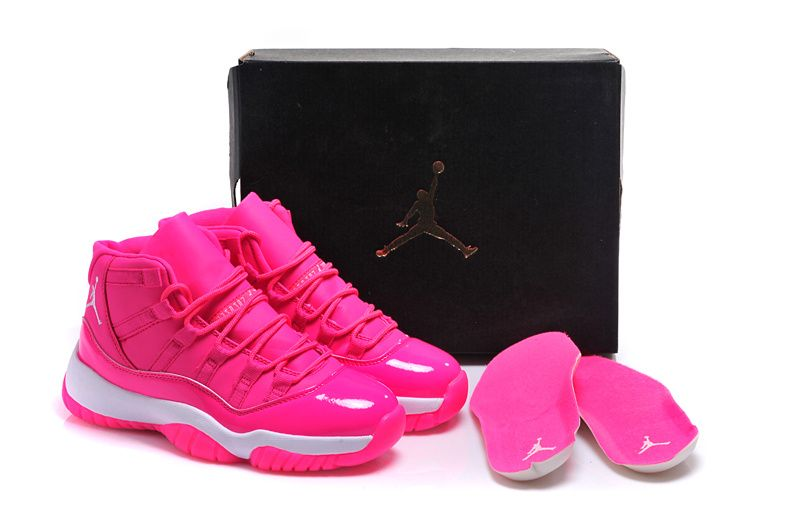 the best attitude dbce8 5eddc Girls Air Jordan 11 GS Pink Everything Pink White Shoes