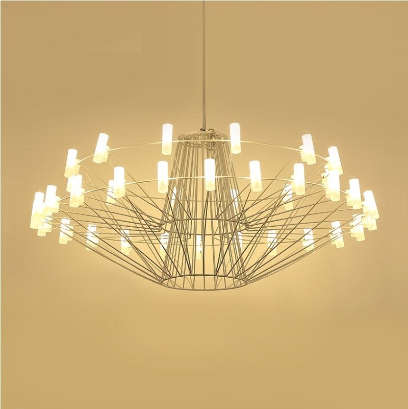Large Led Modern Chandelier With Metal Frame In Chandeliers From Lights Lighting On Aliexpress Com Alibaba Group