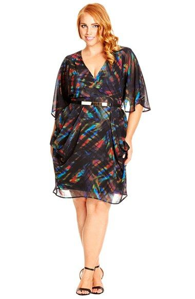 22bb35bd0eb City Chic Print Faux Wrap Dress (Plus Size) available at  Nordstrom ...