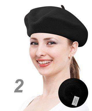 1aae2939 Seleny Women's Wool Love Style Solid Beret | Beanie, Hats, scarves ...