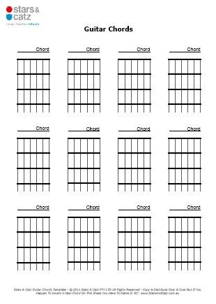 Blank Guitar Chord Templates Sheet Image Music Pinterest - blank puzzle template