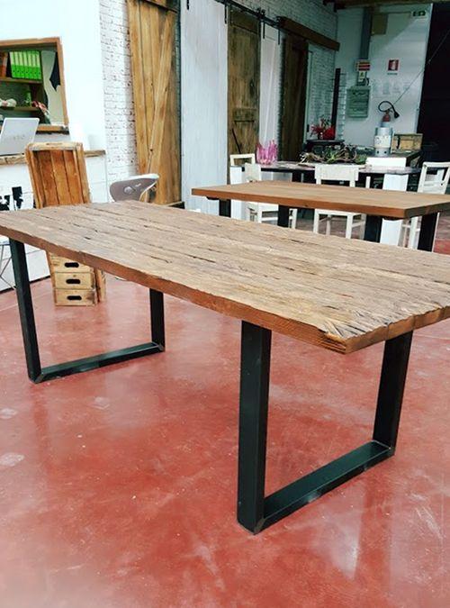 Nuovo tavolo vintage industrial design modello noce un for Tavolo industrial style