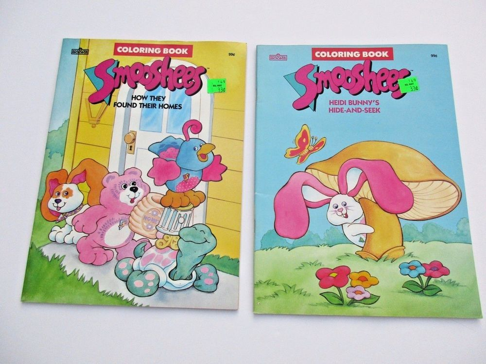Vintage Smooshees Coloring Book Lot Fisher Price Unused 1988 Marvel Books Coloring Books Marvel Books Books