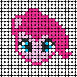 8c8320465b324 Pinkie Pie Template Pony Bead Patterns
