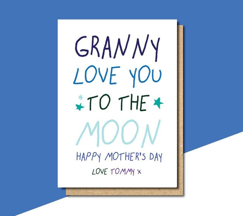 Mothers Day Card Nana Mothers Day Card Nanny Mothers Day Etsy Birthday Message For Mother Birthday Greetings For Mother Message For Mother