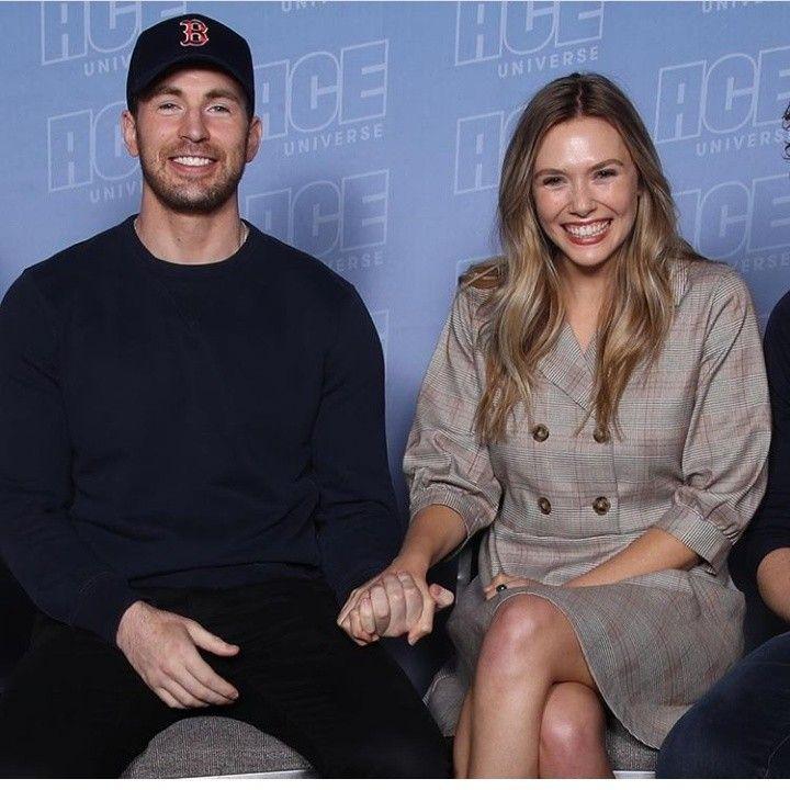 Chrisevans Elizabetholsen Chris Evans Chris Evans Captain America Elizabeth Olsen